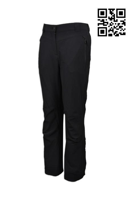 U280  設計兩側橡筋運動褲 供應純色運動褲  內裡 女裝 隱型拉鍊 大量訂造運動褲  運動褲hk中心