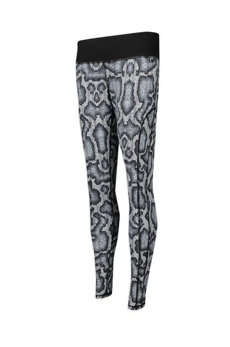 U301 網上下單緊身運動褲  設計蛇皮紋瑜伽褲  熱昇華效果 香港  HONGKONG JET  運動褲製造商