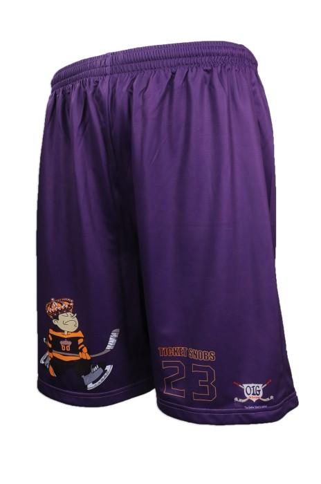 U307 來樣訂做男裝運動短褲款式 網上下單運動短褲 美國 OIG 曲棍球 隊衫 運動短褲供應商