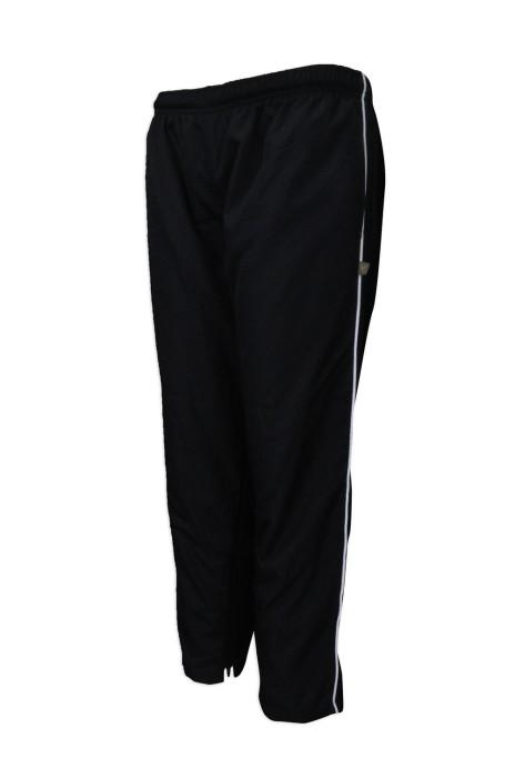 U312 團體訂做長運動褲 網上下單直筒休閒運動褲 開拉鍊 褲腳,運動長褲製造商
