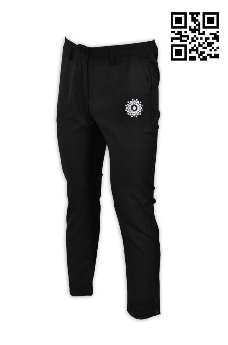 H200訂造時尚印花斜褲 設計黑色斜褲 網上下單斜褲 斜褲制服公司