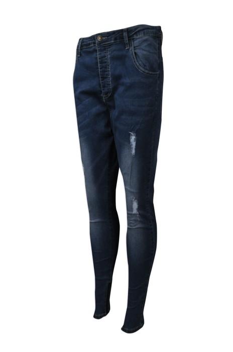 H222  設計緊身牛仔褲  製造女款牛仔長褲  英國 來樣訂造牛仔褲  牛仔褲供應商