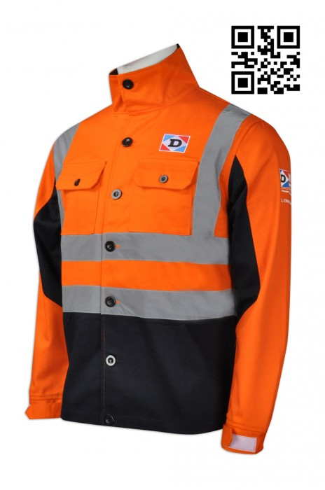 D210  訂造反光條工業外套  設計交通工業制服 防火 阻燃 反光工程外套 度身訂造工業制服 工業制服專門店