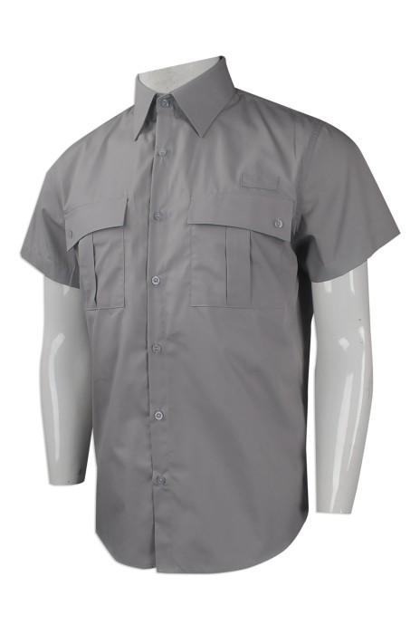 D248 來樣訂做短袖恤衫工業制服 網上下單工業制服款式 香港 工業制服供應商