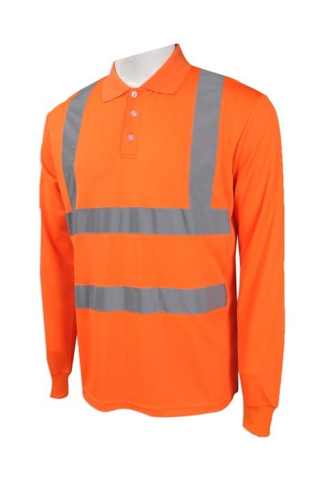 D251 製造淨色安全Polo恤  設計長袖工業Polo恤  大量訂造工作Polo恤  工業制服專營