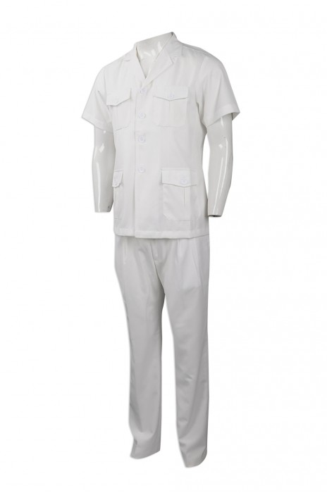 D261 設計工程分體制服  來樣下單工業制服套裝  澳門 印務局 度身訂造工業制服套裝 工業制服製衣廠