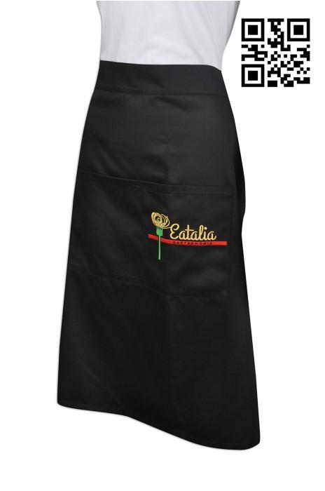 AP079  設計餐飲圍裙款式    來樣訂做圍裙款式  荷蘭餐廳 圍裙  製作LOGO圍裙款式   圍裙工廠