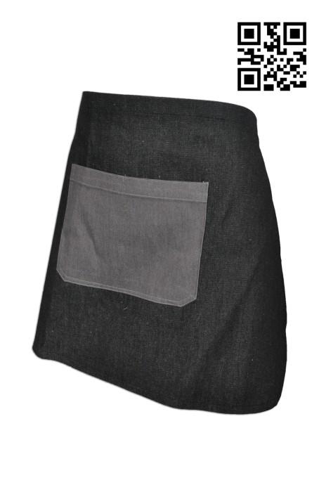 AP082 設計半身圍裙  製作牛仔布圍裙 大量訂造圍裙 圍裙製衣廠