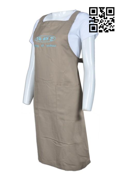 AP084 設計餐飲圍裙款式    訂做LOGO圍裙款式  網購海鮮公司 自製圍裙款式    圍裙製造商