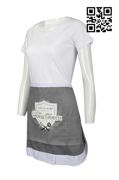 AP089 來樣訂做圍裙款式   設計LOGO圍裙款式  英國餐廳 圍裙  製作半身圍裙款式   圍裙製造商