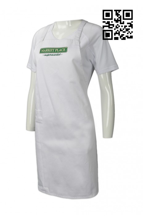 AP094  自製度身圍裙款式    訂做LOGO圍裙款式  超級市場 乾濕貨 圍裙  設計圍裙款式   圍裙專門店