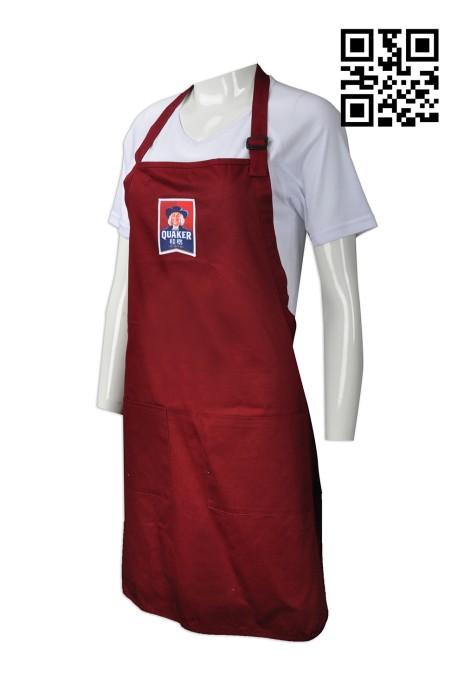 AP095 製作工作圍裙款式    訂做LOGO圍裙款式  早餐 食品 燕麥片 推廣圍裙  自訂圍裙款式   圍裙廠房