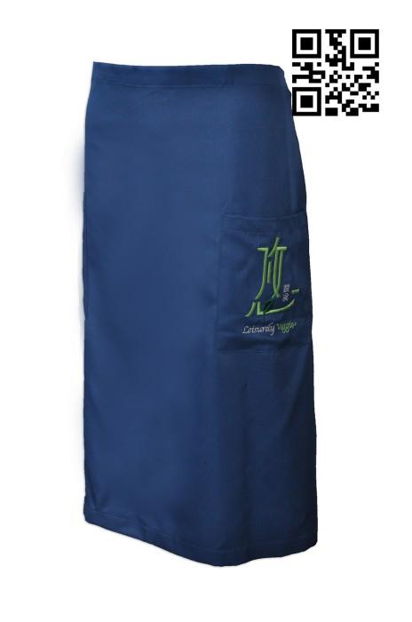 AP097 來樣訂做圍裙款式    製造半身圍裙款式  悠蔬食有限公司 長圍裙 蔬菜 蔬果批發 零售行業制服  設計圍裙款式   圍裙製造商