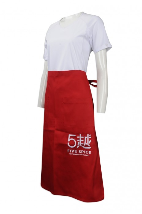 AP104 訂做西餐圍裙 設計員工專用圍裙 大量訂購圍裙 越南餐廳制服 圍裙製造商