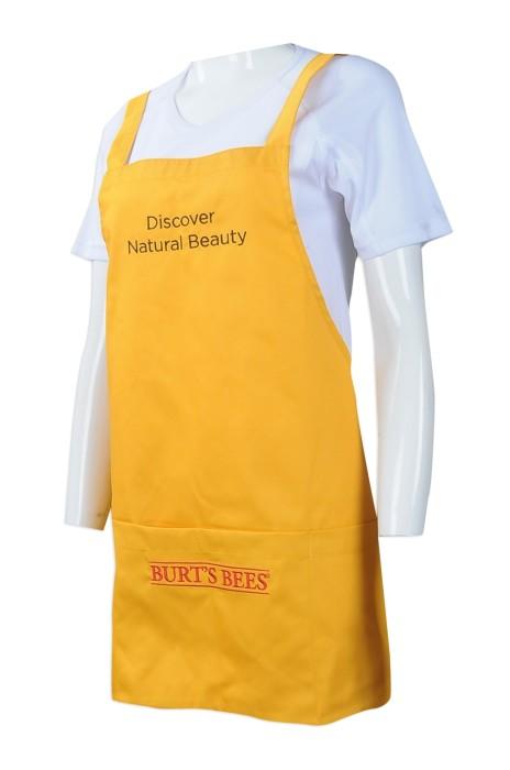 AP111 來樣訂做圍裙 訂造團體員工圍裙 自訂繡花LOGO款圍裙 美容 化妝品店 員工制服 製作圍裙製衣廠