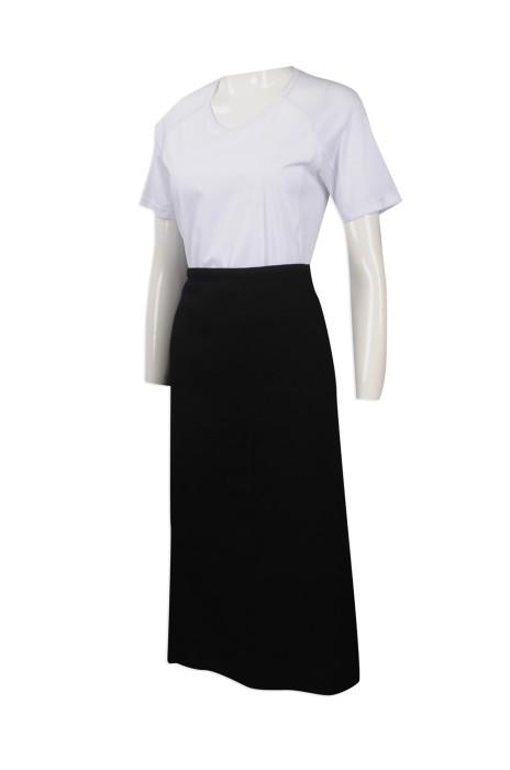 AP124 度身訂做淨色半身圍裙 印製純棉圍裙款式 製作半身圍裙生產商