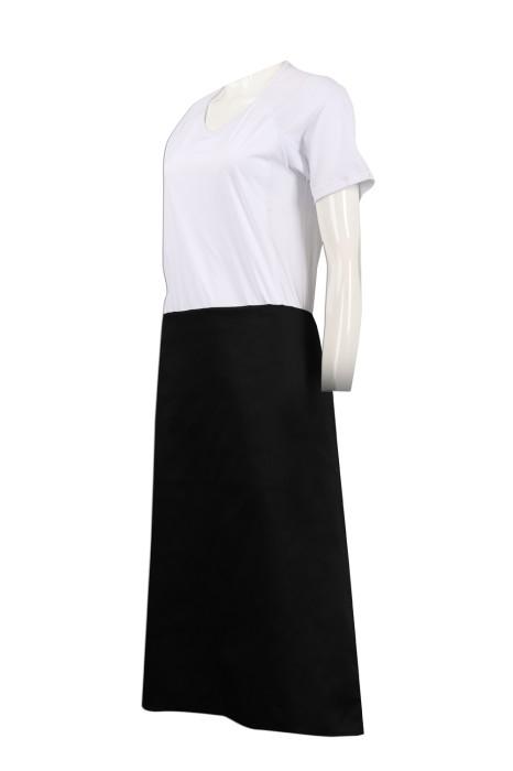 AP127 製作黑色半身圍裙  圍裙專門店