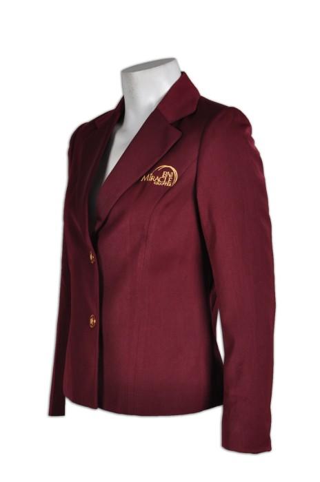 BWS063 女士修身西裝外套 度身訂造 團體繡花西裝外套 韓版西裝外套 西裝外套公司