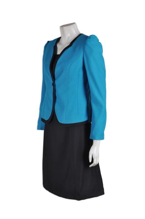 BWS066 女士西服套裙 度身訂造 時尚蕾絲套裝西服 商務西裝套裙 西裝套裙生產商