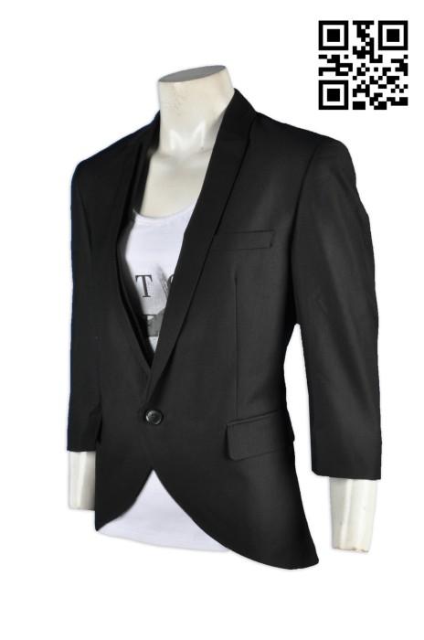 BWS067貼身修身西裝 訂做時尚西裝外套 3/4 袖 7分袖  專業訂做西裝百搭 西裝制服訂造  西裝制服服務中心 西裝外套專門店