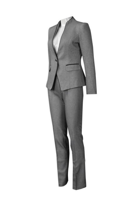 BWS079  訂造行政西裝套裝   設計時尚女西裝套裝   來樣訂造女西裝  西裝專門店