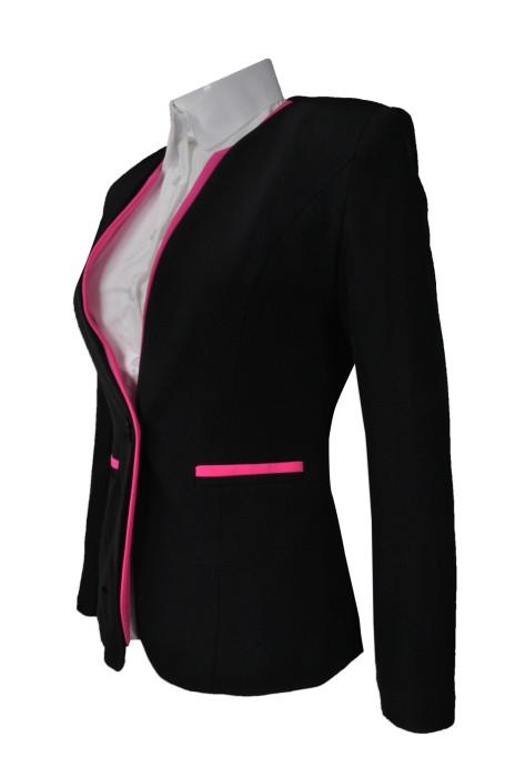 BWS080  網上下單修身西裝  供應女款西裝外套  度身訂造女西裝  女西裝hk中心