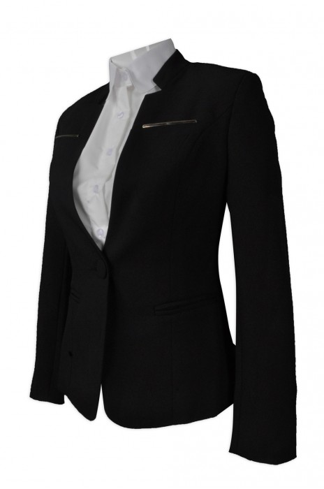 BWS081  製造修身女西裝外套   大量訂造女西裝   設計時尚西裝外套  女西裝製衣廠