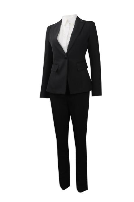 BWS087 來樣訂製女裝西裝套裝 網上下單修身版西裝套裝 西裝套裝生產商