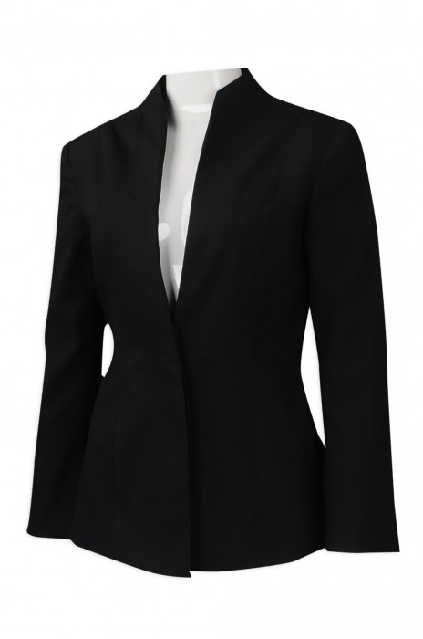 BWS096 訂做喇叭袖修身女西裝 直身領
