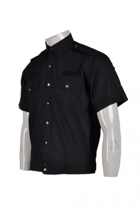 SE052專業訂做保安制服  訂購短袖保安工衣  設計保安服公司  保安短袖恤衫生產商HK