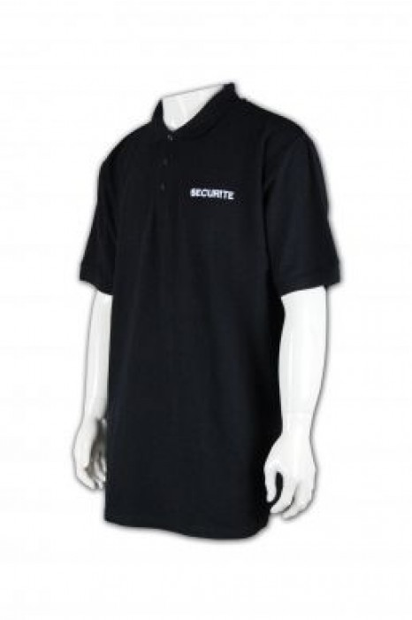 SE013 保安制服度身訂做 Polo保安上衣款式 保安制服專門店 保安制服製造商