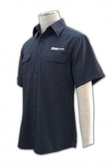 SE040 量身訂製保安恤衫制服 自訂護衛上衣制服 團體保安制服廠家