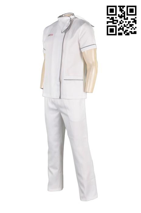 KI075 專業訂造廚師制服  短袖廚師套裝制服  厨司 團體餐飲工作制服 廚師制服製造商