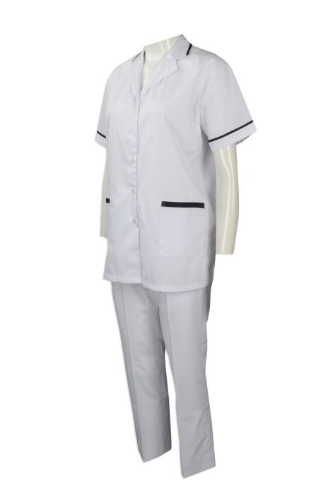 NU046  團體訂做診所護士制服 獸醫制服 大量訂購診所護士制服 Singapore AJCapital  護士制服製造商