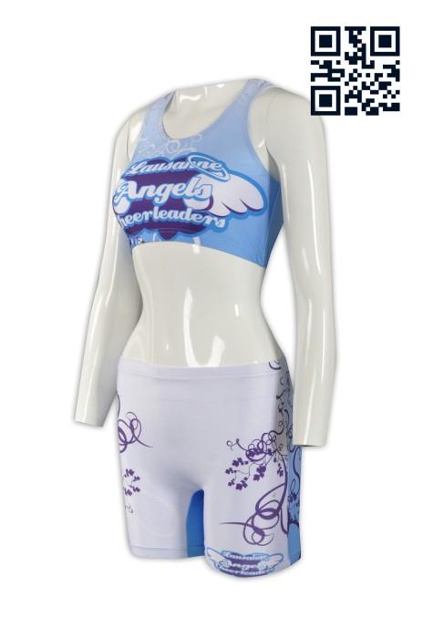 CH140訂印緊身啦啦隊服 設計褲裝啦啦隊服 大量訂造啦啦隊服 啦啦隊服專門店