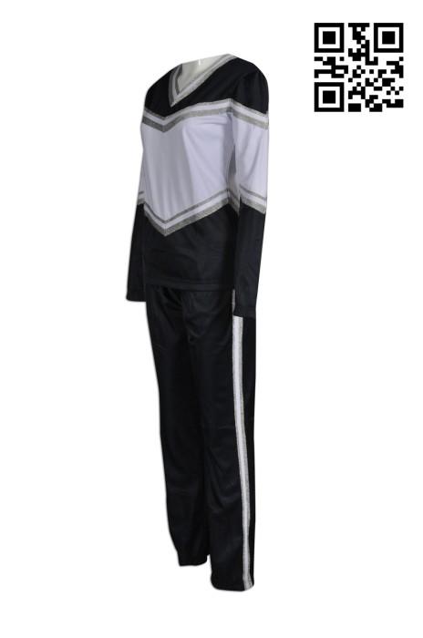 CH144製作拼色啦啦隊套裝  供應長袖啦啦隊服  大量訂造啦啦隊服啦啦隊服制服店