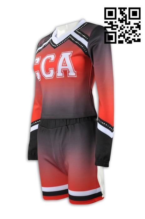 CH151 訂造量身啦啦隊服款式   製作啦啦隊服套裝款式  燙石啦啦隊  自訂啦啦隊服款式    啦啦隊服製造商