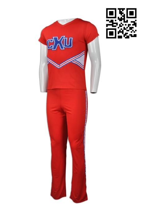 CH154 網上下單褲裝啦啦隊服 來樣訂造男裝啦啦隊服 新加坡 度身訂造啦啦隊服 啦啦隊服hk中心