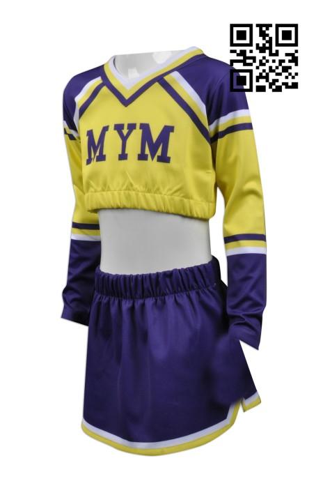 CH156  設計澳門啦啦隊制服  網上下單啦啦隊服 來樣訂造啦啦隊服 啦啦隊服供應商