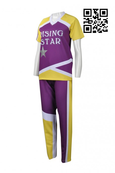 CH158 來樣訂做啦啦隊服款式   製造分體啦啦隊服款式  燙銀LOGO  自訂LOGO啦啦隊服款式   啦啦隊服工廠