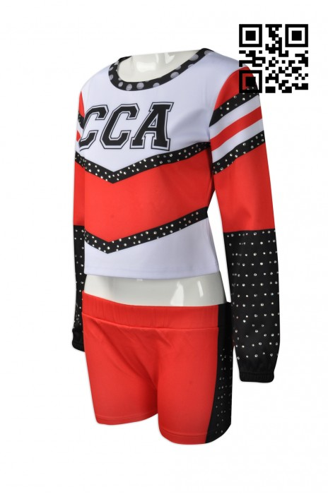 CH160  設計褲裝啦啦隊服  訂購燙石啦啦隊服  製造長袖啦啦隊服 啦啦隊服專門店