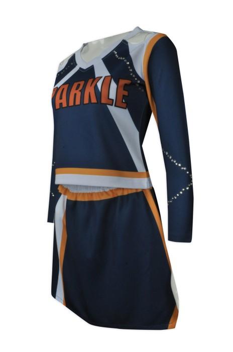 CH162   設計燙石啦啦隊服  供應露肩啦啦隊服  閃石 燙鑽 大量訂造啦啦隊服  啦啦隊服專門店