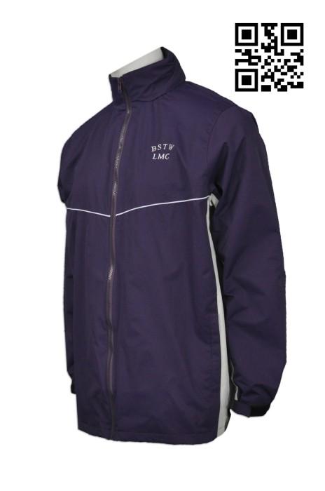 SU226 製造連帽紫色風褸 網上下單風褸 小學 秋冬校服外套 來樣訂造風褸 風褸工廠