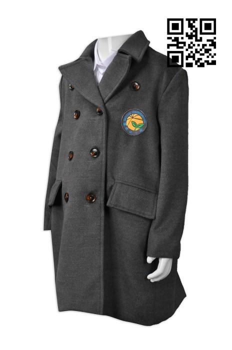 SU241 設計兒童校服款式   訂做風䄛外套校服款式  幼兒園  羊絨大地校褸  自訂女裝校服款式   校服專門店