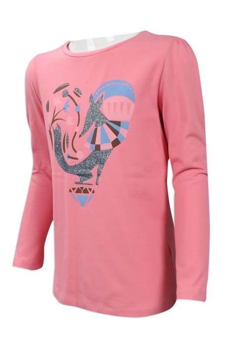 KD037 大量訂做小童長袖T恤 自訂LOGO長袖T恤 台灣 製作小童T恤專營店
