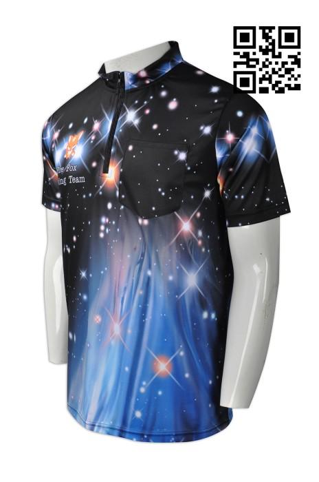 B140 訂造個性保齡球衫款式   製作全件印保齡球衫款式  保齡球衫  隊衫  自訂男裝保齡球衫款式  保齡球衫生產商