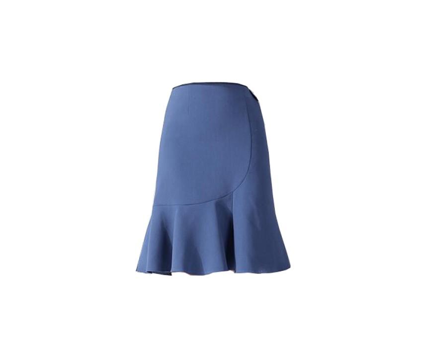 SKCS012 自訂半身魚尾裙  包臀裙 荷葉邊  魚尾裙廠房