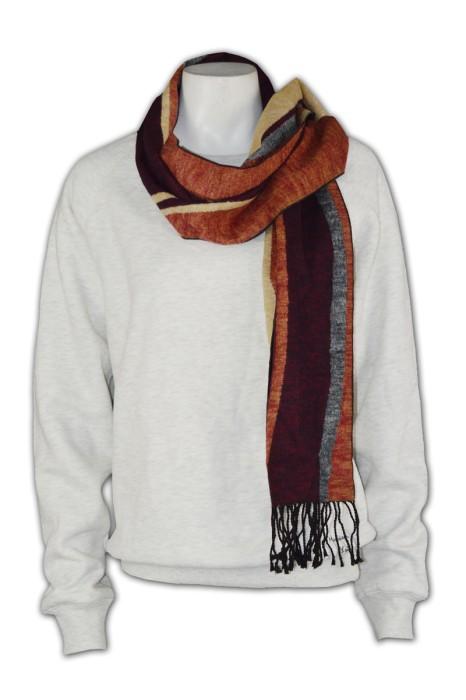 Scarf027  訂製豎條圍巾  訂製針織圍巾  自訂百搭圍巾  訂購團體圍巾供應商