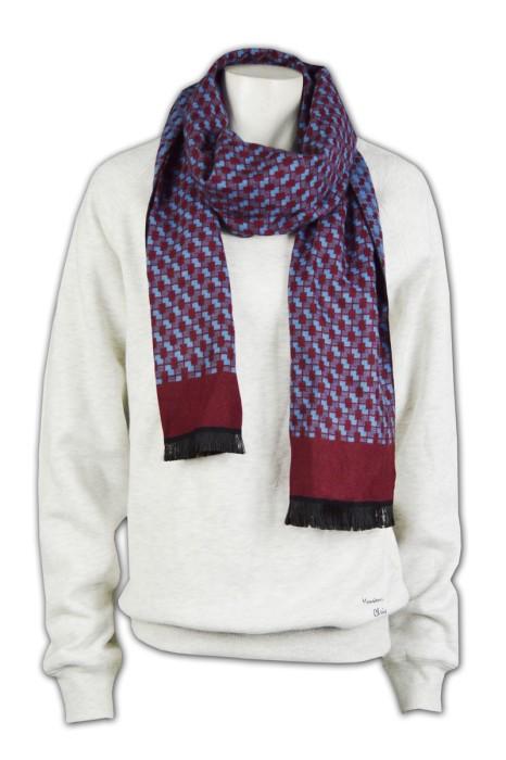 Scarf030 訂製男士格子圍巾  專業訂購秋冬圍巾  設計圍巾款式  圍巾供應商專門店