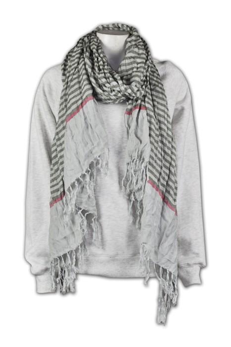 Scarf034 訂製豎條圍巾  自訂圍巾款式   訂造披肩多樣化  訂購供應商公司